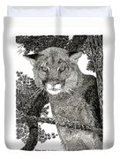Cougar From Colorado Duvet Cover