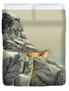 Cougar Perch Duvet Cover
