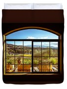 Cougar Winery View Duvet Cover
