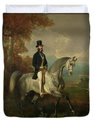 Count Alfred De Montgomery 1810-91 1850-60 Oil On Canvas Duvet Cover