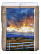 Country Beams Of Light Pealing Picture Window Frame Vie Duvet Cover