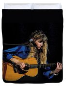 Country Blues Singer Rory Block In Concert Duvet Cover