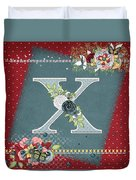 Country Charm Monogramed X Duvet Cover