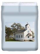 Round Top Texas Country Church Duvet Cover