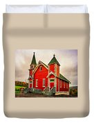 Country Church Paint Duvet Cover