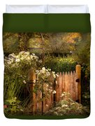 Country - Country Autumn Garden  Duvet Cover by Mike Savad
