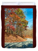 Country Curves And Vultures Duvet Cover