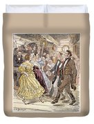Country Dance, 1820s Duvet Cover