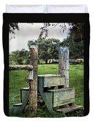 Country Farm Fence Stile Crossing Duvet Cover