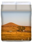 Country Farm In The Hills Duvet Cover