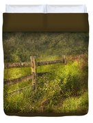 Country - Fence - County Border  Duvet Cover