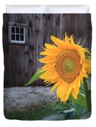Country Flower Square Duvet Cover