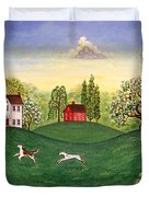 Country Frolic Two Duvet Cover