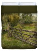 Country - Gate - Rural Simplicity  Duvet Cover