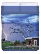 Country Horses Lightning Storm Ne Boulder County Co Hdr Duvet Cover by James BO  Insogna