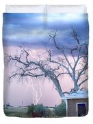 Country Horses Riders On The Storm Duvet Cover