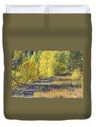 Country Lane Digital Oil Painting Duvet Cover