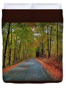 Country Lane In Autumn Duvet Cover