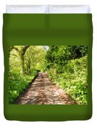 Country Lane Painting Duvet Cover