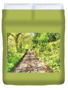 Country Lane Watercolour Duvet Cover