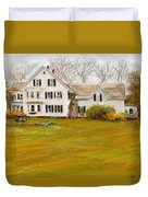 Country Moments-farmhouse In Woodstock Vermont Duvet Cover