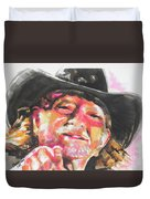 Country Music Artist...willie Nelson Duvet Cover