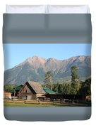 Country Ranch In Mountains Duvet Cover