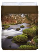 Country River Scene Wales Duvet Cover