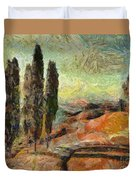 A Sunset In Tuscany Duvet Cover