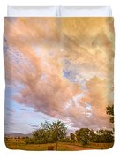 Country Road Into The Storm Front Duvet Cover
