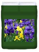 Country Road Irises  Duvet Cover