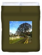 Country Road On Sauvie Island Duvet Cover