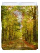 Country Road Take Me Home Duvet Cover