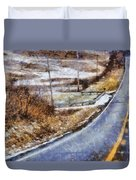 Country Roads In Ohio Duvet Cover