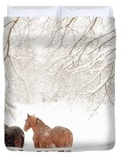 Country Snow Duvet Cover
