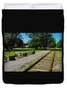 Country Train Station Duvet Cover