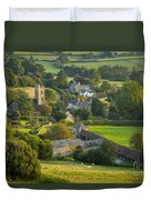 Country Village - England Duvet Cover