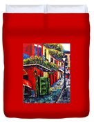 Couple In Pirate's Alley Duvet Cover
