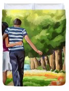 Couple In The Park 01 Duvet Cover