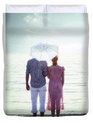 Couple On The Beach Duvet Cover