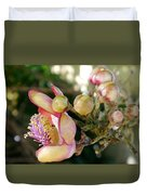 Couroupita Guianensis - Cannonball Tree Flowers Duvet Cover