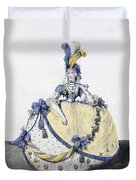 Court Dress, Fig. 106 From The Gallery Duvet Cover
