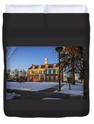Court House In Winter Time Duvet Cover