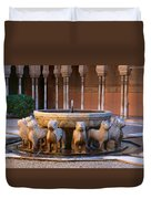 Court Of The Lions In The Alhambra Duvet Cover