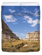 Courthouse And Jail Rocks - Bridgeport Nebraska Duvet Cover