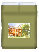 Courthouse In August Sun Duvet Cover