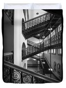 Courthouse Staircases Duvet Cover