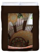 Stairway Courthouse Santa Barbara Duvet Cover