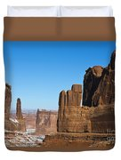 Courthouse Towers Arches National Park Utah Duvet Cover