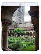 Courtyard At The Cloisters Duvet Cover